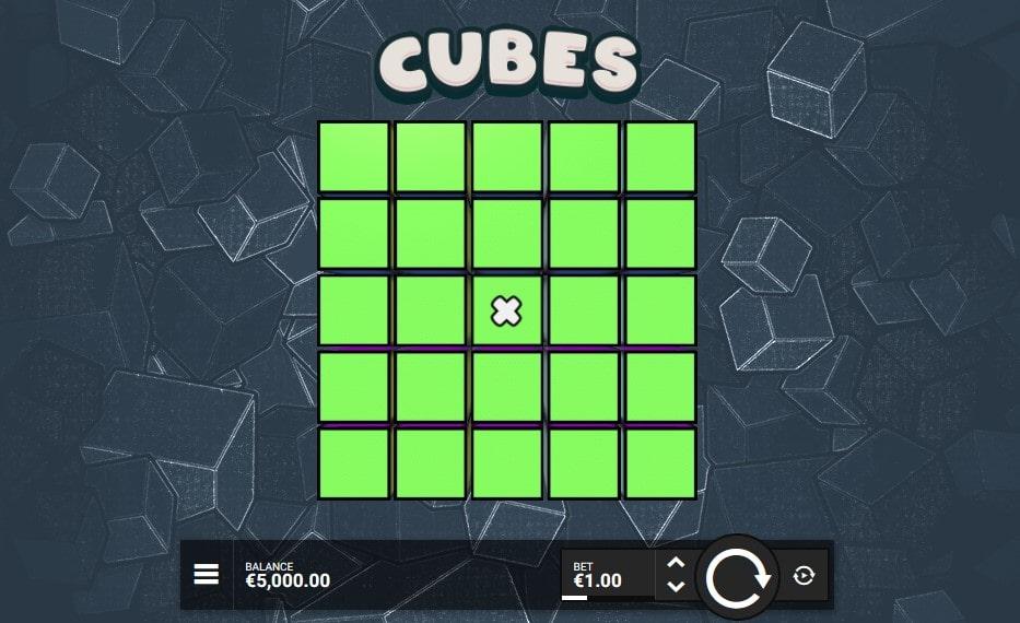 Характеристики игрового автомата Cubes