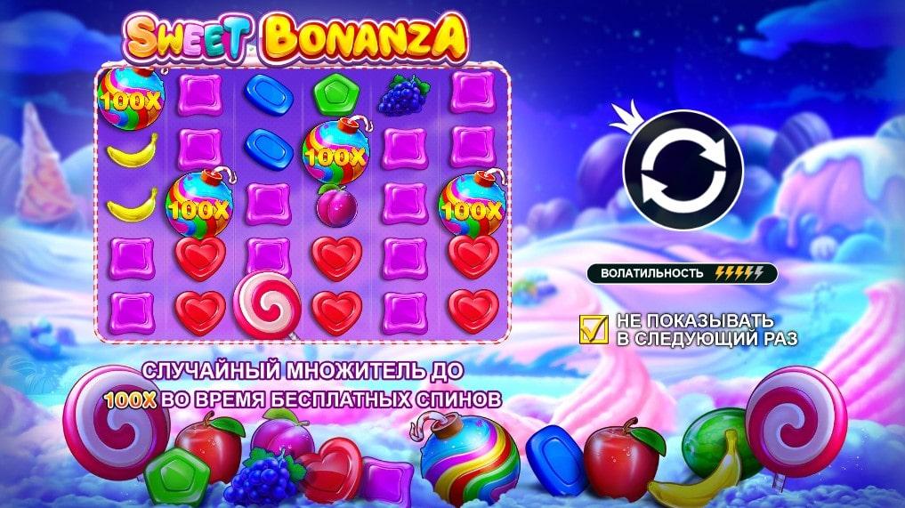 Характеристики игрового автомата Sweet Bonanza